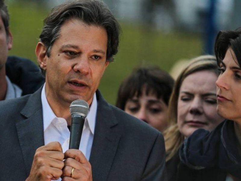 Candidato do PT, Fernando Haddad, é o que mais cresce em nova pesquisa presidencial