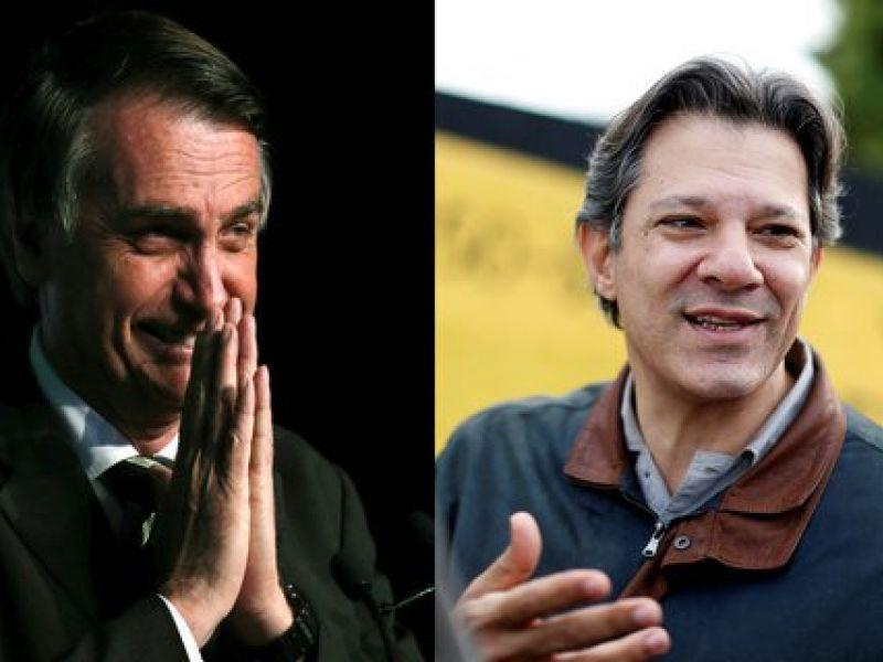 Datafolha: Bolsonaro tem 58% dos votos válidos, Haddad tem 42%
