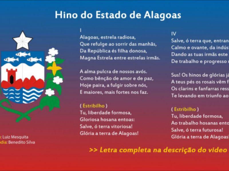 Escolas públicas terão que executar o Hino de Alagoas para seus alunos