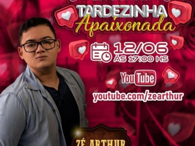 Cantor Zé Arthur prepara live romântica para celebrar o Dia dos Namorados em Penedo