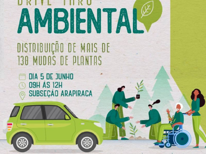 Parceria entre Subseção Arapiraca e MVV realizará, neste sábado (5), 1º Drive Thru Ambiental
