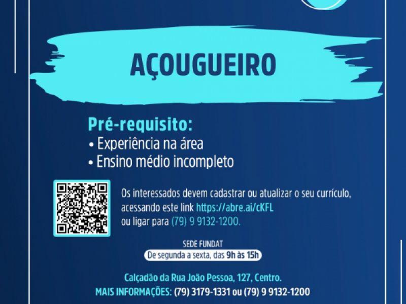 Fundat anuncia novas vagas de emprego para a população aracajuana