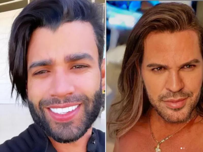 Gusttavo Lima posa com cabelo maior e é comparado a Eduardo Costa