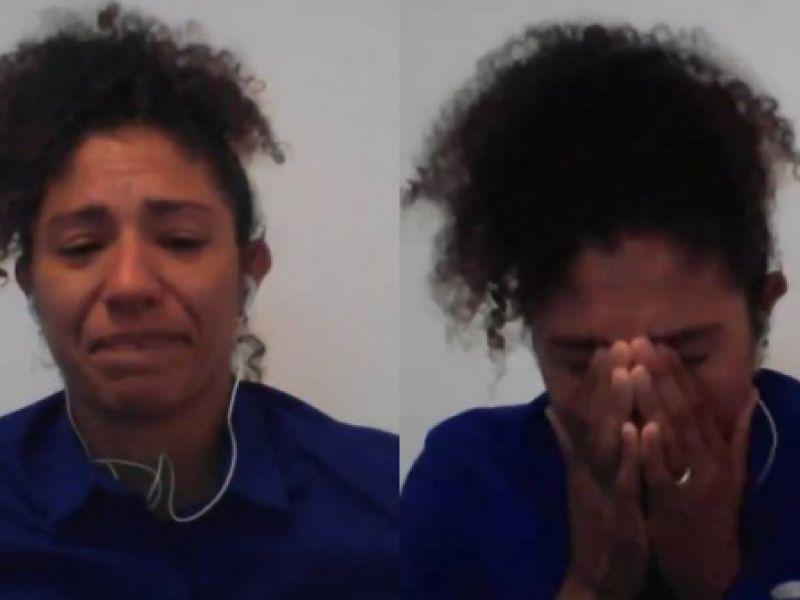"""Cristiane Rozeira chora ao vivo na Globo após eliminação nas Olimpíadas: """"É duro"""""""