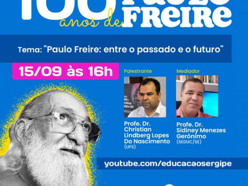 Seduc realiza última live da série em comemoração aos 100 anos do pensador brasileiro