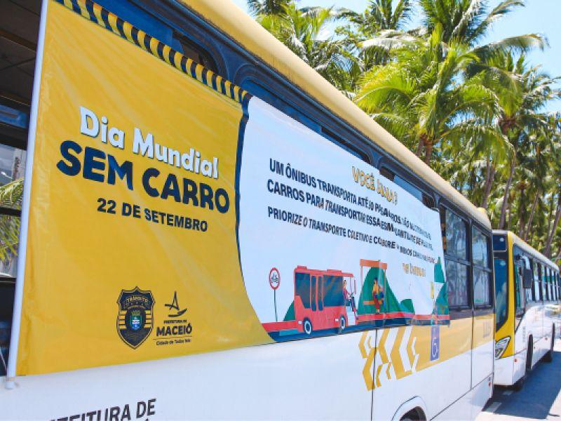 SMTT realiza ações na orla e no Centro de Maceió no Dia Mundial sem Carro