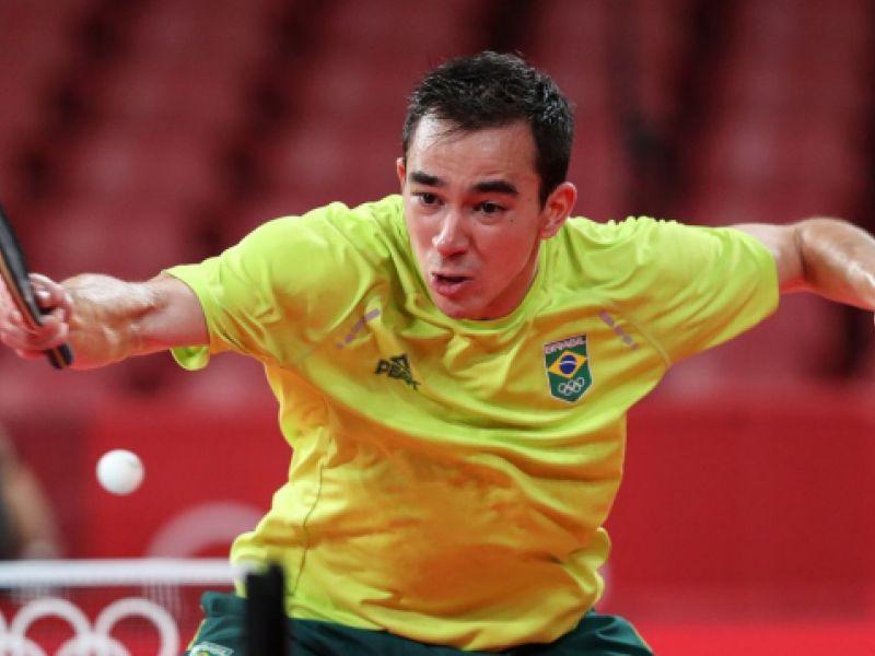 Tênis de mesa: Calderano está nas semifinais do 1º torneio pós-Tóquio nesta sexta (24)