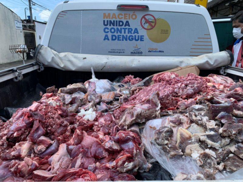 Vigilância Sanitária retira mais 1.200kg de alimentos impróprios de circulação