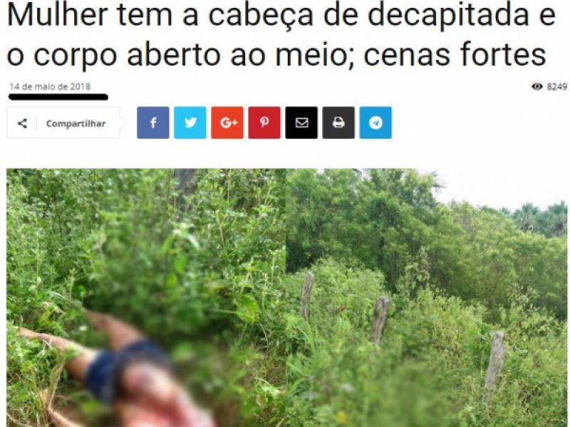 Notícia de que corpo de mulher decapitada havia sido encontrado em Penedo é falsa