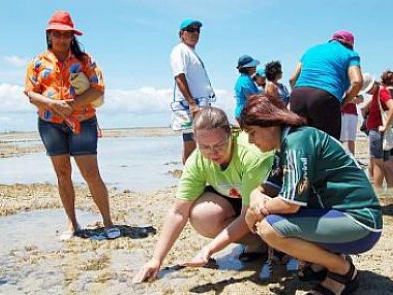 Professores participam de aula prática sobre meio ambiente
